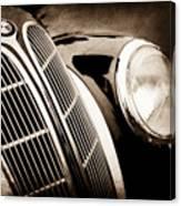 1938 Bmw 327-8 Cabriolet Grille Emblem -1526s Canvas Print
