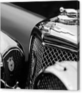 1938 Jaguar Ss100 3.5-liter Roadster Grille Canvas Print