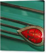 1938 Lincoln Zephyr Convertible Sedan Emblem Canvas Print