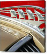 1938 Plymouth Hood Ornament Canvas Print