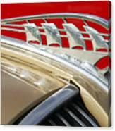 1938 Plymouth Hood Ornament Canvas Print