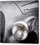 1938 Talbot-lago 150c Ss Figoni And Falaschi Cabriolet Headlight - Emblem -1554ac Canvas Print