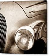 1938 Talbot-lago 150c Ss Figoni And Falaschi Cabriolet Headlight - Emblem -1554s Canvas Print