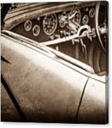1938 Talbot-lago 150c Ss Figoni And Falaschi Cabriolet Steering Wheel -1561s Canvas Print