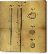 1939 Baseball Bat Patent Canvas Print