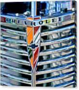 1939 Chevrolet Coupe Grille Emblem Canvas Print