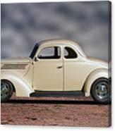 1939 Chevrolet White Coupe Canvas Print