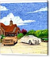 1939 Lincoln Zephyr  Family Home Canvas Print