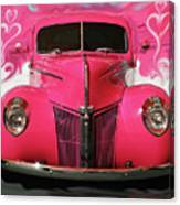 1940 Classic Hot Pink Ford Canvas Print
