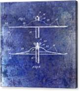 1940 Cymbal Patent Blue Canvas Print