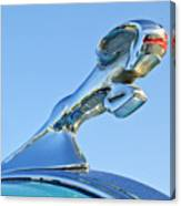 1940 Dodge Business Coupe Hood Ornament Canvas Print