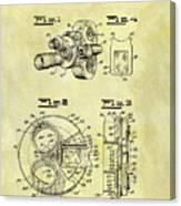 1940 Film Camera Patent Canvas Print