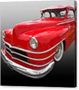 1940s Custom Chrysler New Yorker In Red Canvas Print