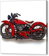 1940's Indian Motorcycle Canvas Print
