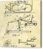 1941 Bulldozer Patent Canvas Print