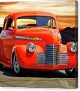1941 Chevrolet Coupe 'reno Sunrise' Canvas Print