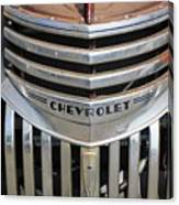 1941 Chevy - Chevrolet Pickup Grille Canvas Print