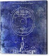 1941 Porsche Brake Mechanism Patent Blue  Canvas Print