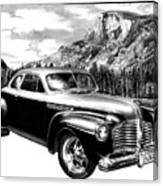 1941 Roadmaster - Half Dome Canvas Print