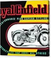 1941 Royal Enfield Motorcycle Ad Canvas Print