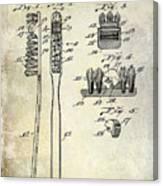 1941 Toothbrush Patent  Canvas Print