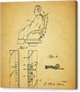 1943 Barber Apron Patent Canvas Print