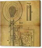 1943 Camera Flash Patent Canvas Print