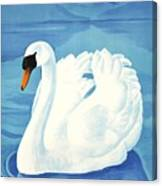 1943 Montreaux Switzerland Travel Poster Canvas Print