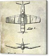 1946 Airplane Patent Canvas Print
