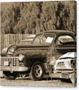 1946 Dodge In Sepia Canvas Print