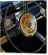 1947 Buick Eight Super Steering Wheel Canvas Print
