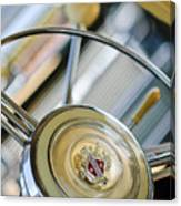 1947 Buick Roadmaster Steering Wheel Canvas Print