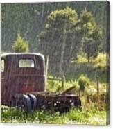1947 Dodge Pickup Rain And Sun Canvas Print