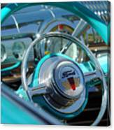 1947 Ford Deluxe Convertible Steering Wheel Canvas Print