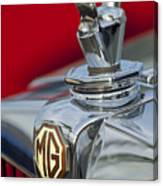 1947 Mg Tc Non-standard Hood Ornament Canvas Print