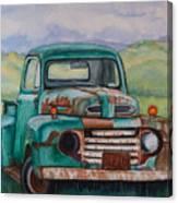 1948 Ford Pickup Rusty Gem  Canvas Print