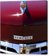 1948 Lincoln Continental Hood Ornament 3 Canvas Print
