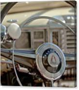 1948 Plymouth Deluxe Steering Wheel Canvas Print