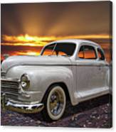 1948 Plymouth Two Door Coupe Canvas Print