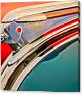 1948 Pontiac Chief Hood Ornament Canvas Print