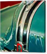 1948 Pontiac Streamliner Woody Wagon Hood Ornament Canvas Print
