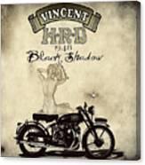 1948 Vincent Black Shadow Canvas Print
