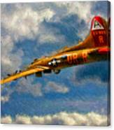1949 Boeing B-17b Flying Fortress Canvas Print