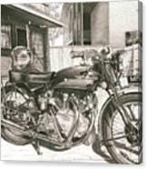 1949 Vincent Rapide Hrd Canvas Print