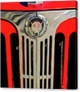 1949 Willys Jeepster Hood Ornament And Grille Canvas Print