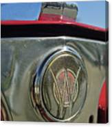 1949 Willys Jeepster Hood Ornament Canvas Print
