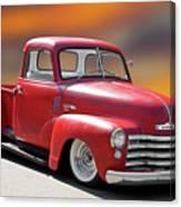 1950 Chevrolet 3100 Pickup 'show Low' I Canvas Print