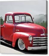1950 Chevrolet 3100 Pickup 'show Low' II Canvas Print