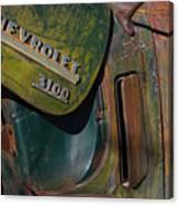 1950 Chevrolet Pickup Truck Emblem Canvas Print