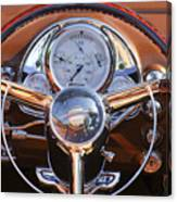 1950 Oldsmobile Rocket 88 Steering Wheel 2 Canvas Print